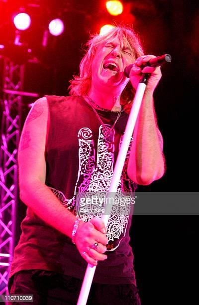 Joe Elliot of Def Leppard band performing