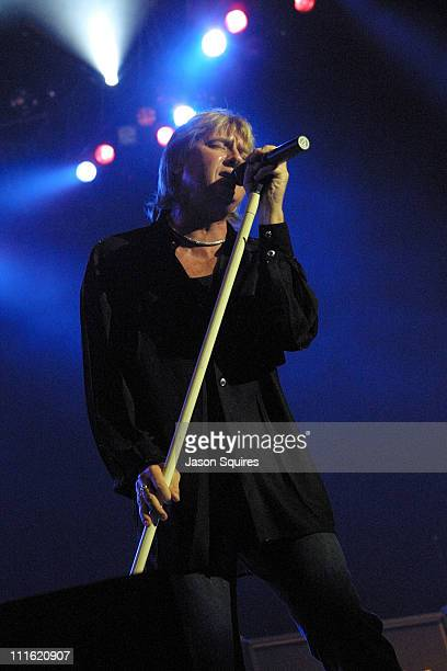 Joe Elliot of Def Leppard performs during Mix 93.3's Red White and Boom at Verizon Wireless Amphitheater in Bonner Springs, Kansas, United States.