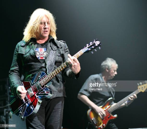 Joe Elliott and Snake of Joe Elliott's Down N Outz perform at BIC on April 24 2011 in Bournemouth England