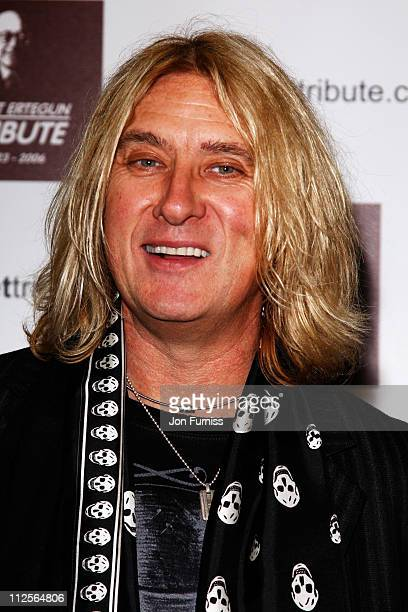 Joe Elliott from Def Leppard attends the Led Zeppelin Tribute To Ahmet Ertegun concert held at the O2 Arena on December 10 2007 in London England