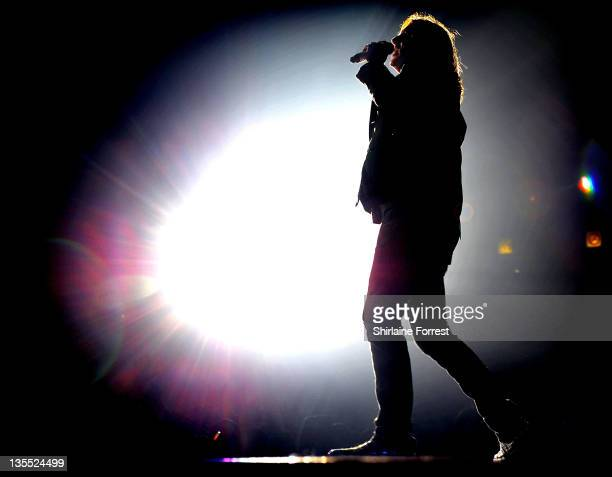 Joe Elliott of Def Leppard performs at MEN Arena on December 11 2011 in Manchester England