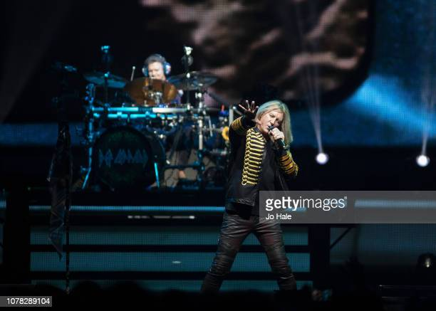 Joe Elliott of Def Leppard performs at The O2 Arena on December 06 2018 in London England