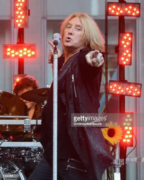 "Joe Elliott of Def Leppard performs during ""FOX & Friends"" All American Concert Series at FOX Studios on June 15, 2012 in New York City."
