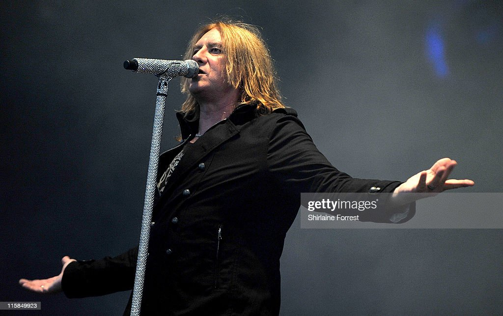 Joe Elliott of Def Leppard performs on day one of the Download Festival at Donington Park on June 10, 2011 in Castle Donington, England.