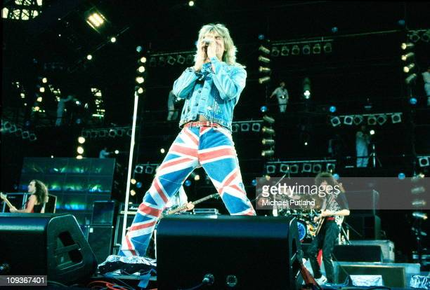 Joe Elliott of Def Leppard performs on stage at Freddie Mercury Tribute Concert Wembley London 20th April 1992