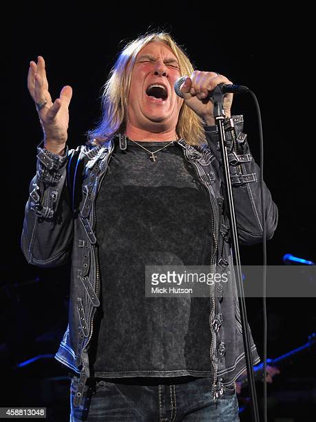 Joe Elliott performs on stage as part of an evening of The Who music in aid of Teenage Cancer Trust at O2 Shepherd's Bush Empire on November 11 2014...