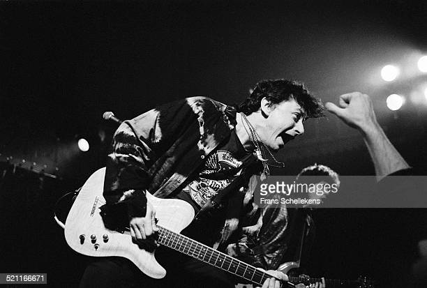 Joe Ely, vocal and guitar, performs at the Paradiso on January 30th 1991 in Amsterdam, Netherlands.
