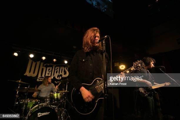Joe Emmet Matt Thomson and Elliot Briggs of The Amazons perform at Whelan's on March 7 2017 in Dublin Ireland