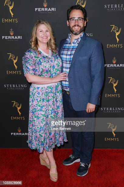 Joe Farrell and guest attend the Television Academy Honors Emmy Nominated Producers at Montage Beverly Hills on September 14 2018 in Beverly Hills...