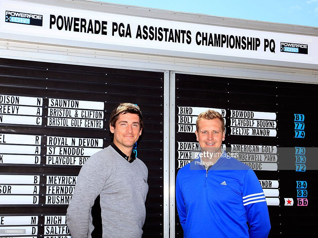 Joe Ferguson of Celtic Manor Resort Ltd and Ben Newman of Ogbourne Downs Golf Club tied for 1st place with a 3 under par 66 during the Powerade PGA Assistants' Championship regional qualifier played at Honiton Golf Club on May 16, 2013 in Honiton, England.