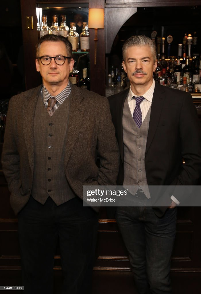 Joe Forbich and Thomas Michael Hammond attend the Broadway cast of 'The Iceman Cometh' Press Photocall at Delmonico's on April 11, 2018 in New York City.
