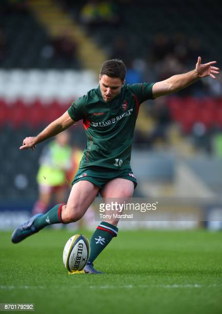 Joe Ford of Leicester Tigers during the warm up before the AngloWelsh Cup match at Welford Road on November 4 2017 in Leicester England