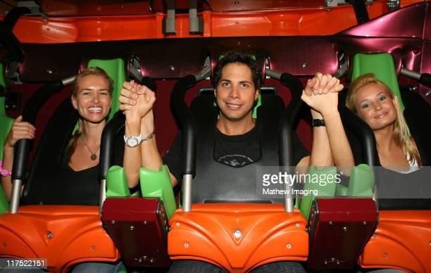 Joe Francis and guests during Six Flags Magic Mountain's Birthday Bash for Joe Francis VIP Riders at Six Flags Magic Mountain in Valencia California...
