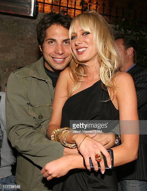 Joe Francis and Kimberly Stewart during Sons of Hollywood Premiere Party at Les Deux Hollywood in Hollywood California United States
