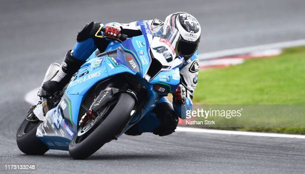 Joe Francis of Great Britain in action during the British Superbike Championship at Oulton Park on September 08, 2019 in Chester, England.