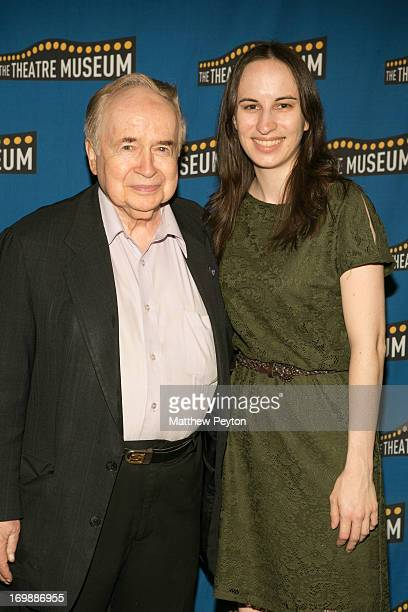 Joe Franklin and award ceremony producer Alyssa Renzi attend the 2013 Theatre Museum Awards Hosted By Stewart F Lane Bonnie Comley at the Players...