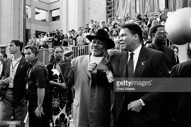 Joe Frazier and Muhammad Ali during Black and White Celebrity Photography By Chris Weeks - The 2002 ESPY Awards - Arrivals at The Kodak Theater in...