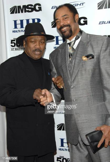 "Joe Frazier and Walt Frazier during ""The 50 Greatest Moments At Madison Square Garden"" New York Screening - January 18, 2007 at The Club Bar & Grill..."
