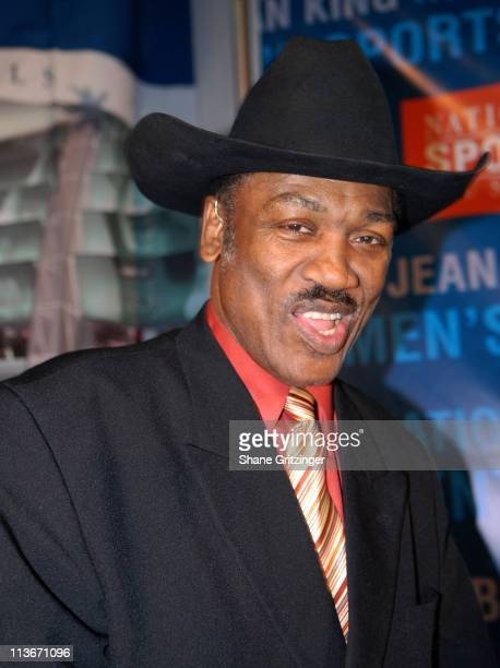 Joe Frazier during Sports Icons Press Conference Unveiling Plans for the Museum's Billie Jean King International Women's Sports Center at National...