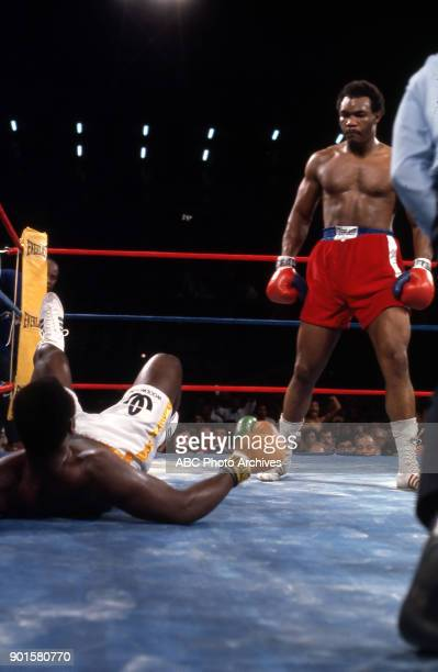 Joe Frazier George Foreman boxing at Jamaica National Stadium January 22 1973