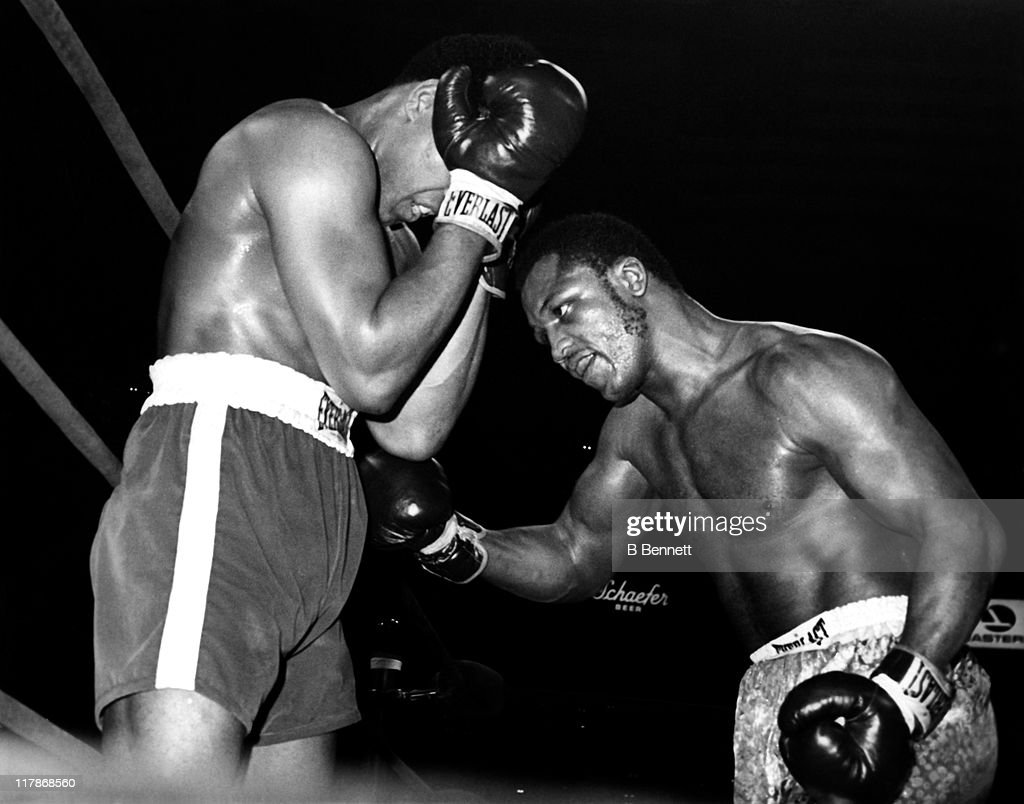 Joe Frazier punches Muhammad Ali during their heavyweigh fight in Madison Square Garden on March 8, 1971 in New York City. Frazier defeated Ali in 15 rounds.