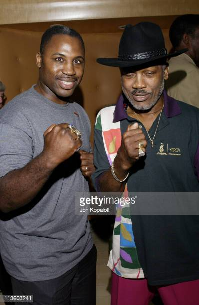 Joe Frazier son Marvis Frazier during 2002 ESPY Awards KickOff Party Featuring The ESPY Collection at Sky Bar At The Mondrian Hotel in West Hollywood...