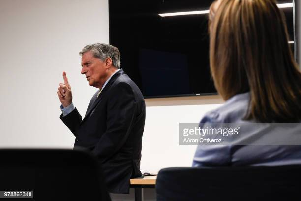 Joe Fuchs chairman of Digital First Media fields questions from Denver Post editorial employees during an open question and answer about the state of...