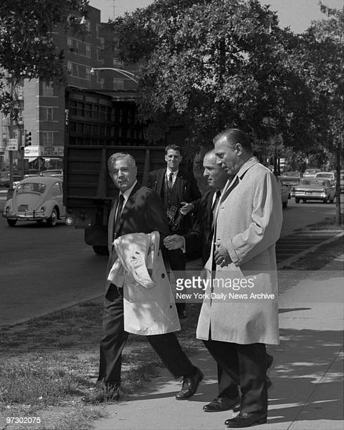Joe Gallo and Aniello Dellacroce leave the Queens DA's office with attorney Joe Panzer This is not Crazy Joe Gallo from Brooklyn
