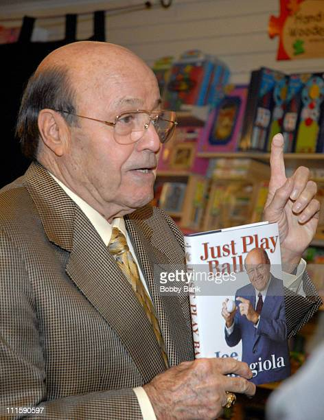 """Joe Garagiola during Joe Garagiola Signs His Book """"Just Play Ball"""" at Bookends Bookstore in Ridgewood, New Jersey - April 12, 2007 at Bookends..."""