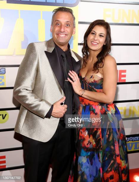 Joe Gatto and Bessy Gatto attend the Impractical Jokers The Movie New York Screening at AMC Lincoln Square Theater on February 18 2020 in New York...