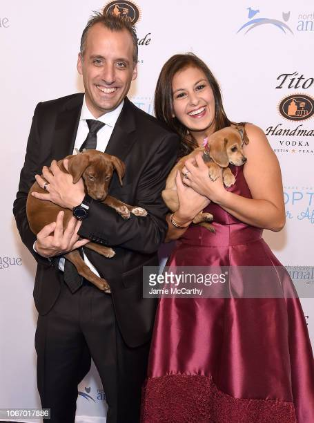 Joe Gatto and Bessy Gatto attend the North Shore Animal League America's Annual Celebrity Get Your Rescue On Gala at Pier Sixty at Chelsea Piers on...