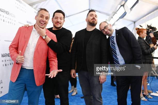 Joe Gatto Sal Vulcano Brian Quinn James Murray of truTV's Impractical Jokers and TBS's Misery Index attend the WarnerMedia Upfront 2019 arrivals on...