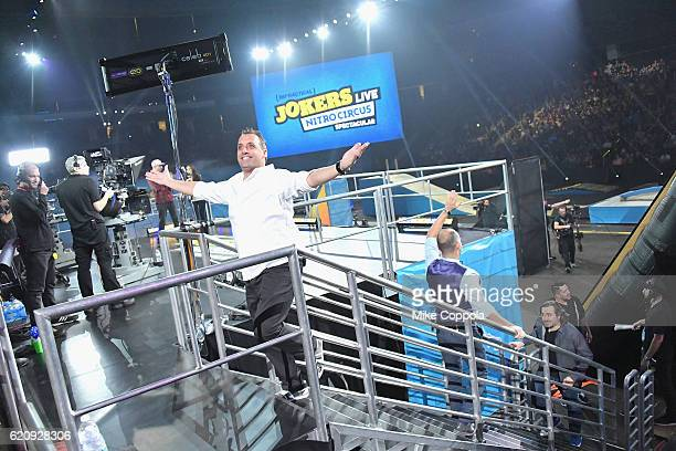 Joe Gatto speaks during Impractical Jokers Live Nitro Circus Spectacular at Prudential Center on November 3 2016 in Newark New Jersey JPG