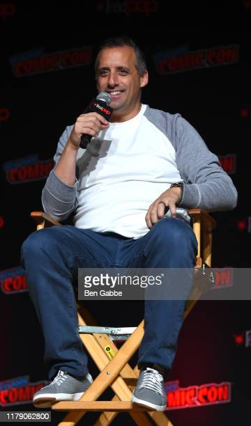 Joe Gatto speaks onstage at the Impractical Jokers From Staten Island to The Misery Index and Beyond Panel during New York Comic Con 2019 Day 2 at...