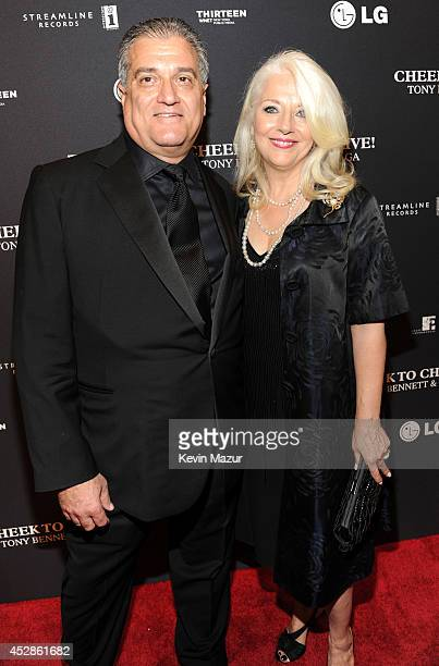 Joe Germanotta and Cynthia Germanotta arrive to Tony Bennett and Lady Gaga Cheek To Cheek taping at Jazz at Lincoln Center on July 28 2014 in New...