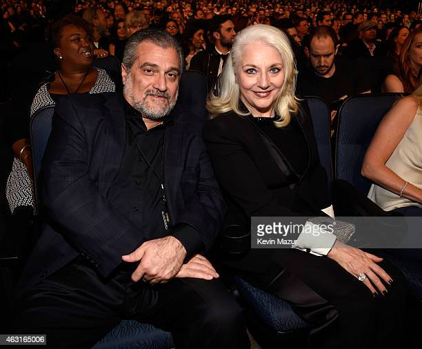Joe Germanotta and Cynthia Germanotta attend Stevie Wonder Songs In The Key Of Life An AllStar GRAMMY Salute at Nokia Theatre LA Live on February 10...