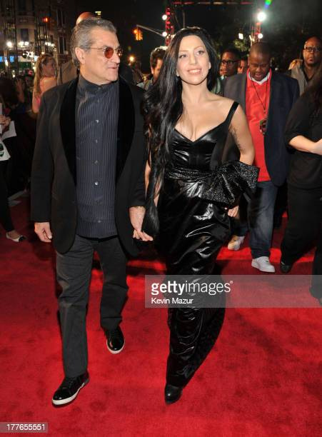 Joe Germanotta and Lady Gaga attend the 2013 MTV Video Music Awards at the Barclays Center on August 25 2013 in the Brooklyn borough of New York City