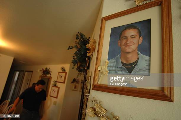 BROWNING MONTANA Joe Gervais walks down the hall in his home while a photograph of his late son Zack who was killed on the Blackfeet Reservation in...