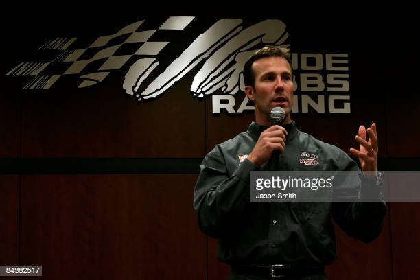 Joe Gibbs Racing team president JD Gibbs speaks with the media during the NASCAR Sprint Media Tour hosted by Lowe's Motor Speedway on January 20 2009...