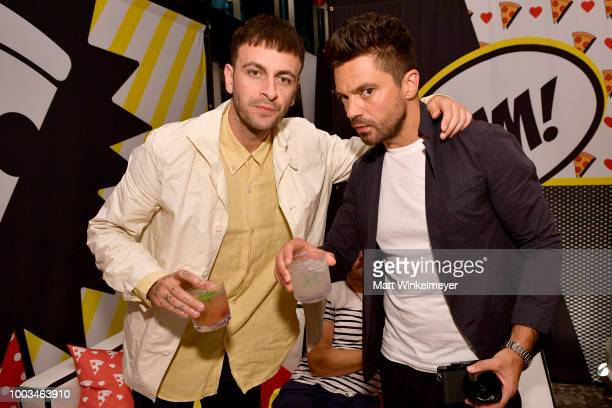 Joe Gilgun and Dominic Cooper from AMC's 'Preacher' attend the Pizza Hut Lounge at 2018 ComicCon International San Diego at Andaz San Diego on July...