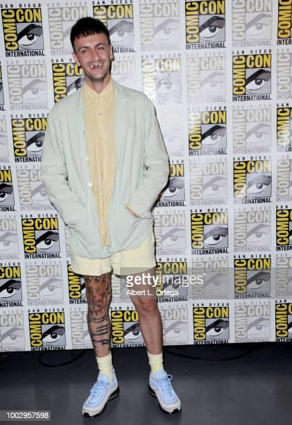 "Joe Gilgun at AMC's ""Preacher"" panel during Comic-Con International 2018 at San Diego Convention Center on July 20, 2018 in San Diego, California."