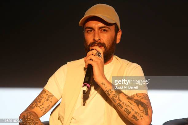 Joe Gilgun attends the Manchester screening of Sky original Brassic all episodes of the comedy drama available 22nd August at Vue Printworks on...
