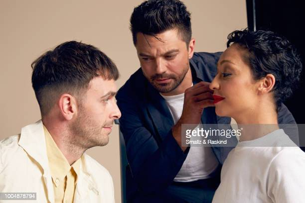 Joe Gilgun Dominic Cooper and Ruth Negga from AMC's 'Preacher' poses for a portrait at the Getty Images Portrait Studio powered by Pizza Hut at San...