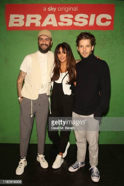 Joe Gilgun Michelle Keegan and Damien Molony attend the Manchester screening of Sky original Brassic all episodes of the comedy drama available 22nd...