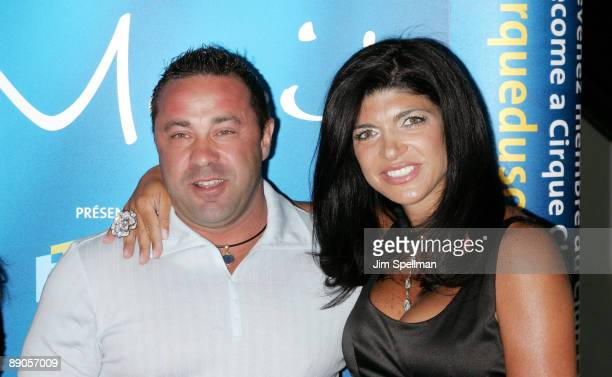 Joe Giudice and Teresa Giudice attend Cirque du Soleil's Alegria at the Prudential Center on July 15 2009 in Newark New Jersey