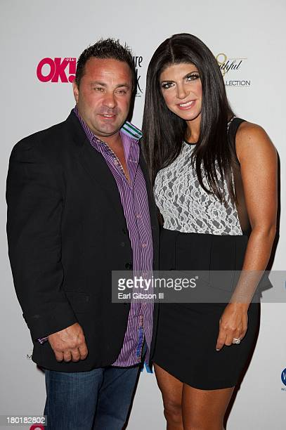 Joe Giudice and Teresa Giudice attends the OK TV Launch Celebration at Lavo on September 9 2013 in New York City