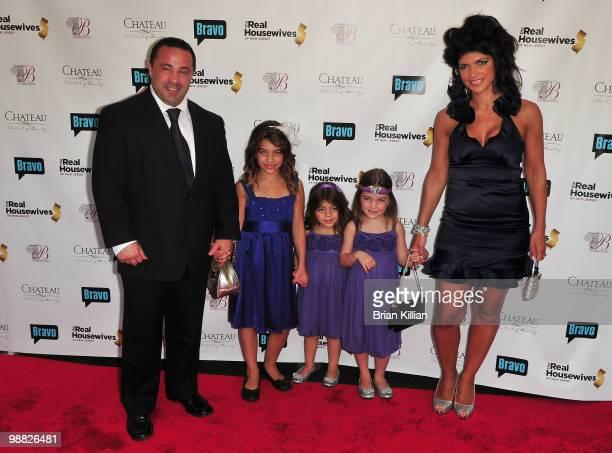 "Joe Giudice, Gia Giudice, Milania Giudice, Gabriella Giudice and Teresa Giudice attend Bravo's ""The Real Housewives of New Jersey"" season two..."