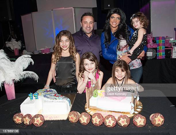 Joe Giudice, Teresa Giudice, Audriana Giudice, Gia Giudice, Gabriella Giudice and Milania Giudice attends Gia Giudice & Milania Giudice's Birthday...