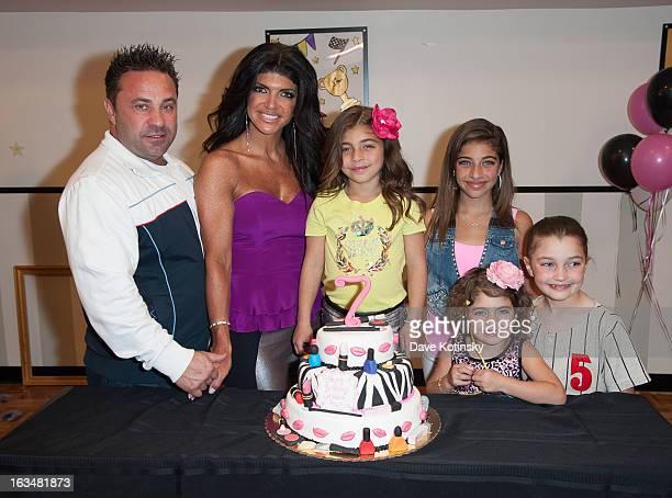 Joe Giudice, Teresa Giudice, Audriana Giudice, Gia Giudice, Gabriella Giudice and Milania Giudice attend Milania Giudice's 7th Birthday Celebration...