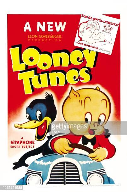 Joe Glow poster THE FIREFLY bottom lr Daffy Duck Porky Pig on poster art 1941